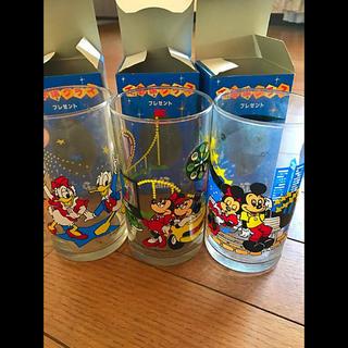 ディズニー ヴィンテージグラス 20〜30年物  3脚 未使用(グラス/カップ)
