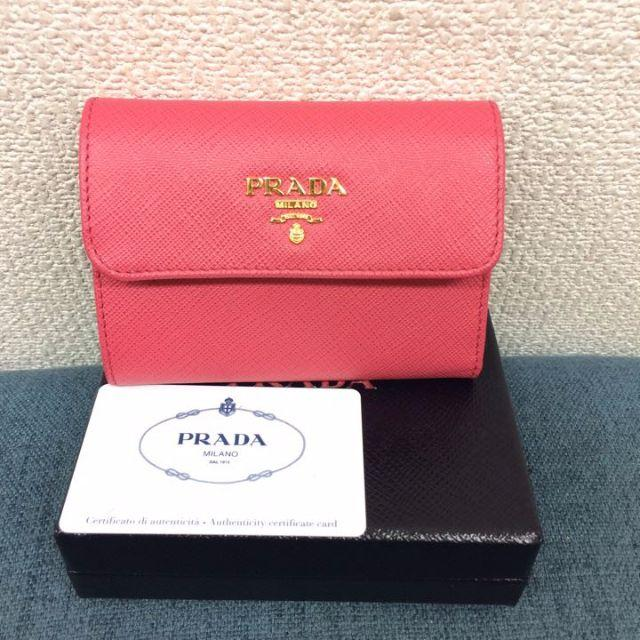 PRADA(プラダ)の未使用 プラダ サフィアーノ コンパクト財布 ピンク レディースのファッション小物(財布)の商品写真