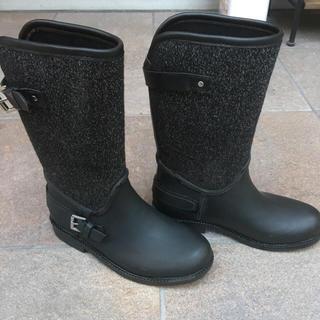 ザラキッズ(ZARA KIDS)のザラキッズ コントラストデザインレインブーツ19.5(長靴/レインシューズ)