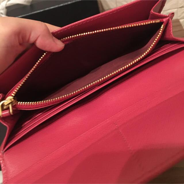 PRADA(プラダ)のペオニアピンクリボン付き長財布 レディースのファッション小物(財布)の商品写真