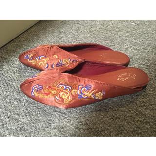ビューティアンドユースユナイテッドアローズ(BEAUTY&YOUTH UNITED ARROWS)のピンクローファー(ローファー/革靴)