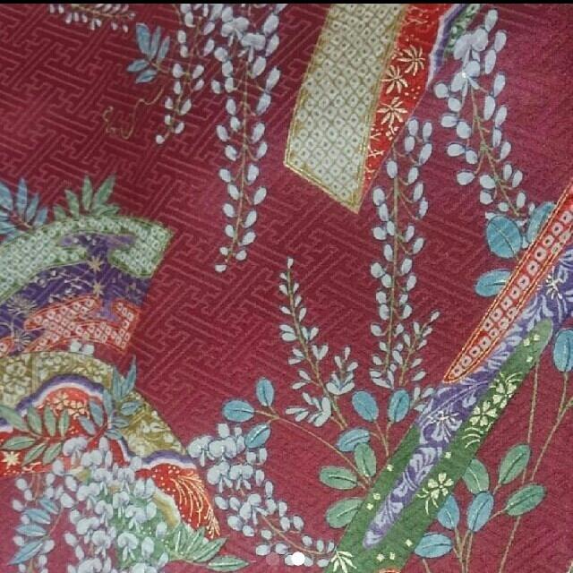 小紋 赤紫系 レディースの水着/浴衣(着物)の商品写真