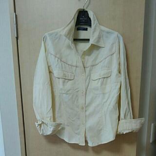アクアブルー(Aqua blue)のオフホワイト コーデュロイシャツ 150(ブラウス)