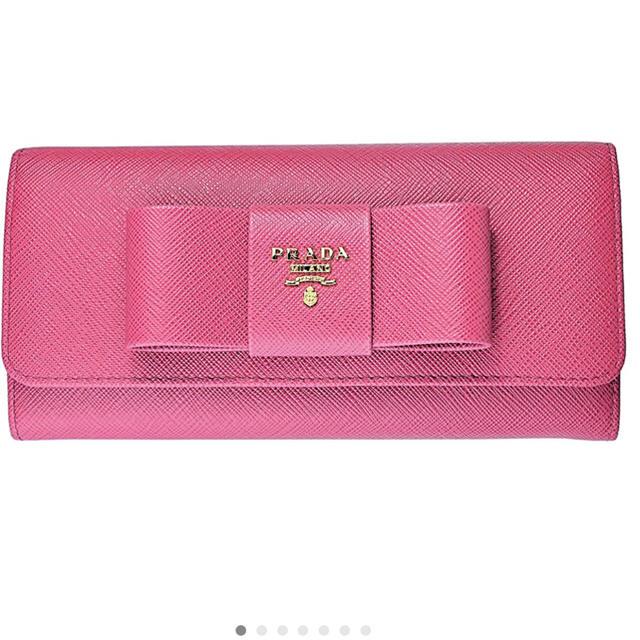 PRADA(プラダ)の新品 PRADA 1MH132 ZTM F0505 PINK PEONIA レディースのファッション小物(財布)の商品写真
