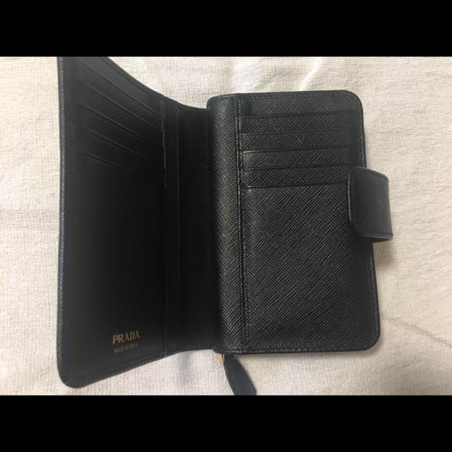 PRADA(プラダ)のPRADA*再再再値下げ*二つ折り財布*折りたたみ財布 レディースのファッション小物(財布)の商品写真