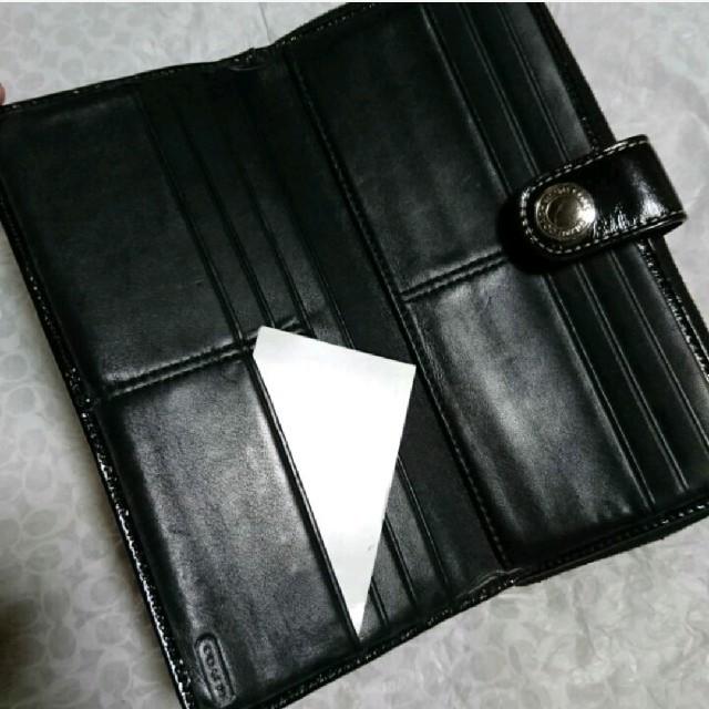 COACH(コーチ)のCOACH  長財布  黒ラメ レディースのファッション小物(財布)の商品写真
