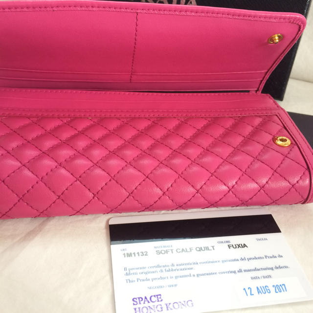 PRADA(プラダ)のPRADAパスケース付長財布 レディースのファッション小物(財布)の商品写真