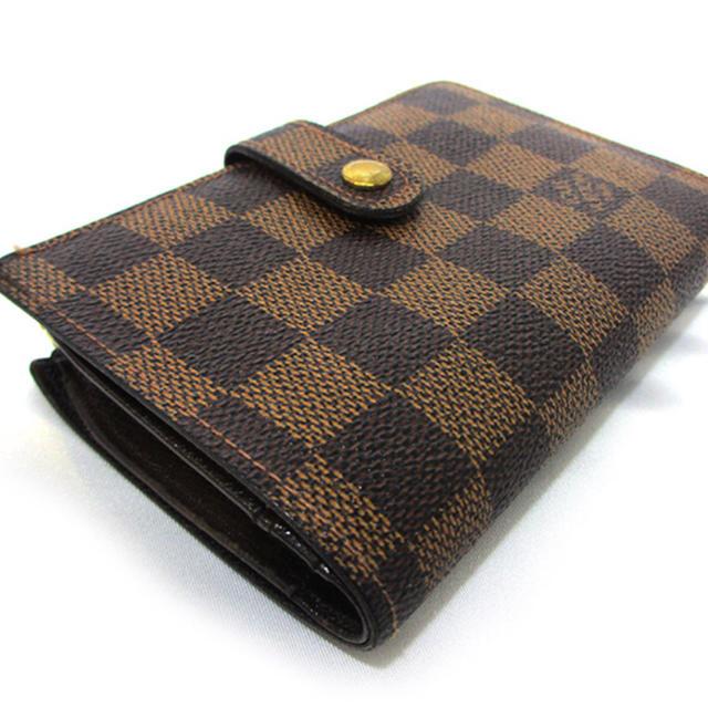 LOUIS VUITTON(ルイヴィトン)のヴィトン ダミエ ガマグチ がまぐち ガマ口 二つ折り財布  レディースのファッション小物(財布)の商品写真