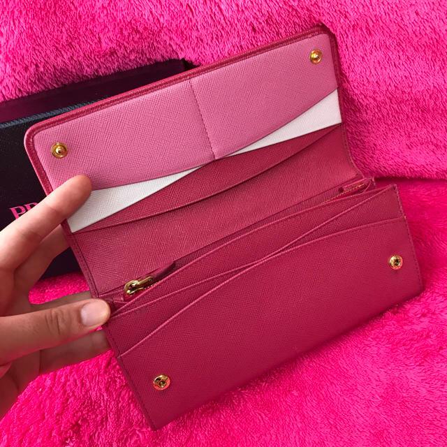 PRADA(プラダ)の♡美品♡PRADA♡プラダ♡サフィアーノ♡長財布♡Pink♡ レディースのファッション小物(財布)の商品写真