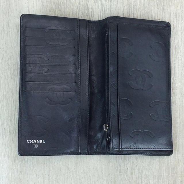 CHANEL(シャネル)のCHANEL 長財布・カンボンライン・カーフ/牛革/BLK レディースのファッション小物(財布)の商品写真