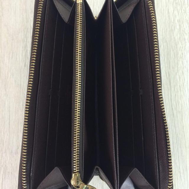 LOUIS VUITTON(ルイヴィトン)のジッピー・ウォレット_ダミエエベヌ/PVC/BRW/総柄/レディース レディースのファッション小物(財布)の商品写真