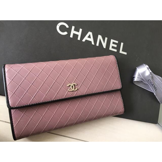 CHANEL(シャネル)のCHANEL 銀座限定カラーほぼ未使用長財布 レディースのファッション小物(財布)の商品写真