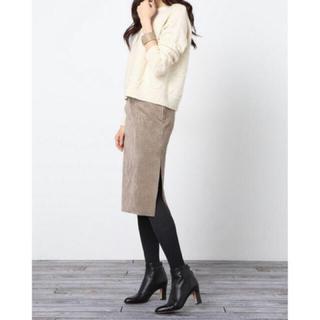 ノーブル(Noble)のNOBLEのフェイクスウェードスカート(ひざ丈スカート)