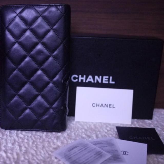 CHANEL(シャネル)のCHANEL カンボン 長財布☆黒×黒 レディースのファッション小物(財布)の商品写真