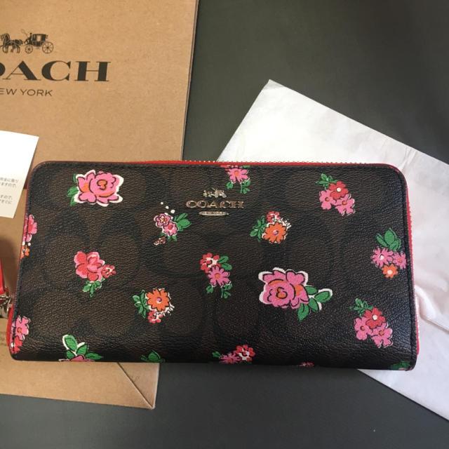 COACH(コーチ)のCOACH 未使用 財布 花柄 レディースのファッション小物(財布)の商品写真