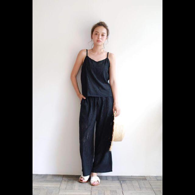 SeaRoomlynn(シールームリン)のシールームリン セットアップ ブラック レディースのパンツ(オールインワン)の商品写真