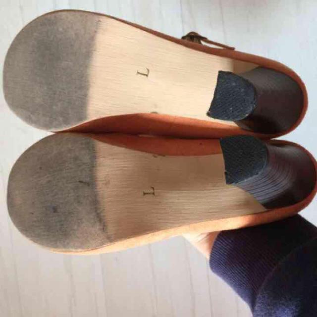 オレンジパンプス レディースの靴/シューズ(ハイヒール/パンプス)の商品写真