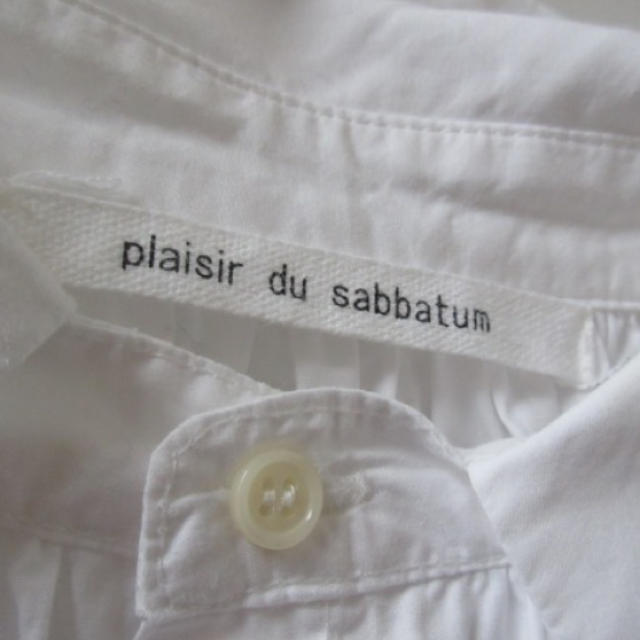 plaisir du sabbatum 白シャツワンピース レディースのワンピース(ひざ丈ワンピース)の商品写真