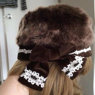 イノセントワールド(Innocent World)の冬物の茶色ロシア風帽子6月末まで値下げ中(ハンチング/ベレー帽)