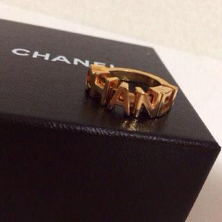 シャネル(CHANEL)のCHANEL☆ロゴ ゴールドリング (リング(指輪))