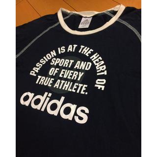 アディダス(adidas)のadidasダークグレーコットンカットソー(Tシャツ/カットソー(七分/長袖))