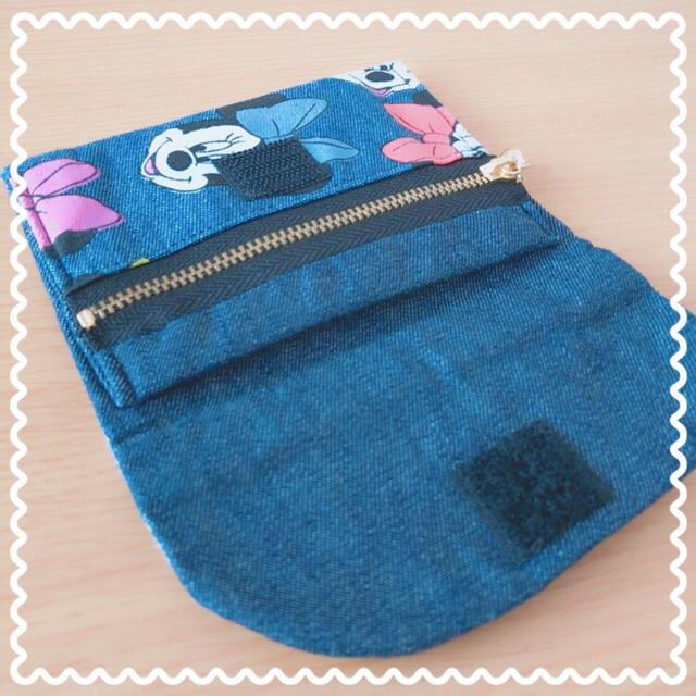 Disney(ディズニー)のDisney☆ミニー/デニム☆コインケース/パスケース☆ ハンドメイドのファッション小物(財布)の商品写真
