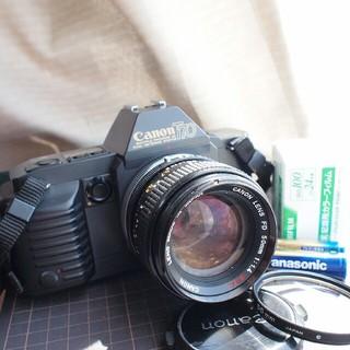 キヤノン(Canon)の明るい50mm F1.4レンズセット☆CANON T70ボディ(フィルムカメラ)