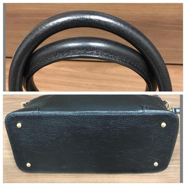 Ralph Lauren(ラルフローレン)の美品 ラルフローレン 黒 ハンドバック ショルダーバック 2way可能 レディースのバッグ(ハンドバッグ)の商品写真