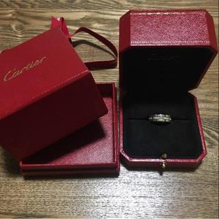 カルティエ(Cartier)の10月限定価格!カルティエ ハーフダイヤリング タンクフランセーズ K18WG(リング(指輪))