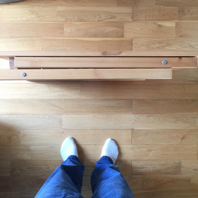 MUJI (無印良品)(ムジルシリョウヒン)のムーミン様専用 無印 無印良品 折りたたみテーブル 机 インテリア/住まい/日用品の机/テーブル(折たたみテーブル)の商品写真