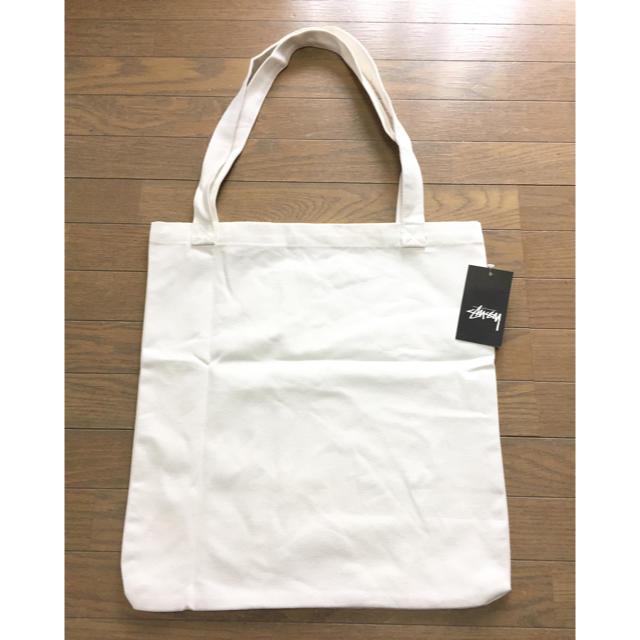STUSSY(ステューシー)のstussy トートバッグ 白 タグ付新品 送料無料 レディースのバッグ(トートバッグ)の商品写真