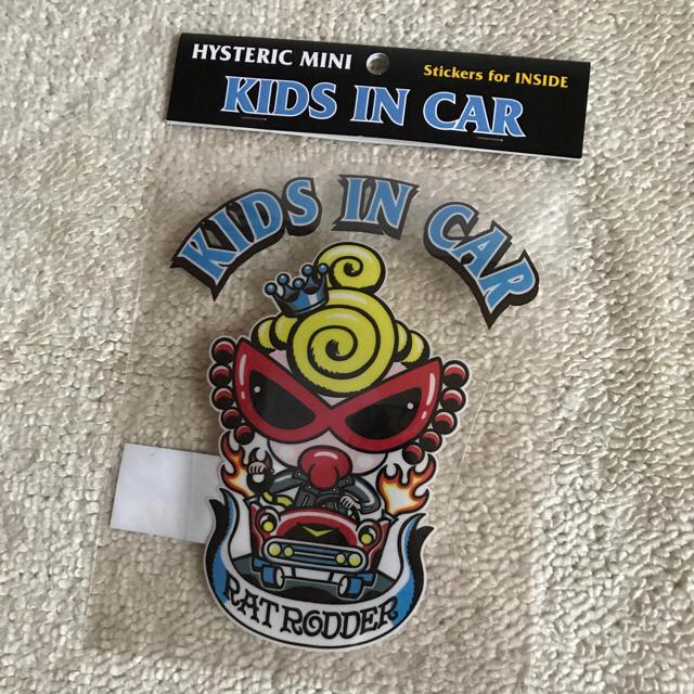 HYSTERIC MINI(ヒステリックミニ)のヒスミニ カー用ステッカー キッズ 自動車/バイクの自動車(車外アクセサリ)の商品写真