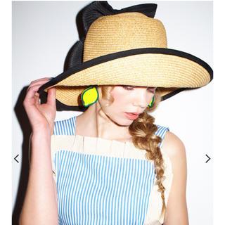 パメオポーズ(PAMEO POSE)のPAMEO POSE  MEOW STRAW HAT(麦わら帽子/ストローハット)