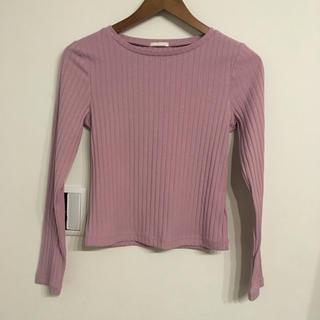 ジーユー(GU)のGU リブロングTシャツ(Tシャツ(長袖/七分))