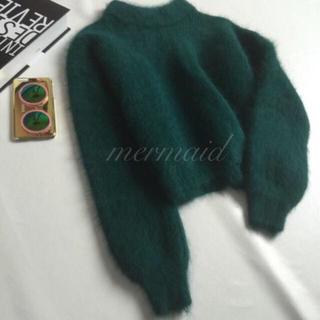 インポート モヘア バルーン袖ニット 4color(ニット/セーター)