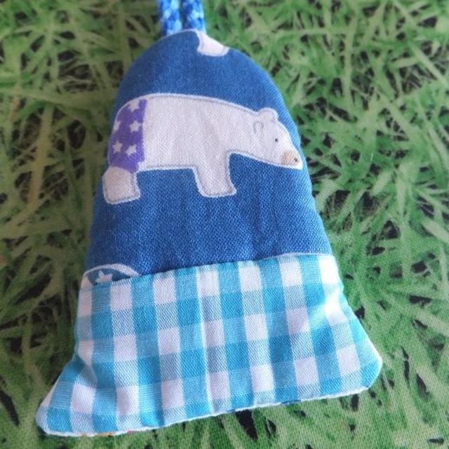 handmade★白くまのキーカバー ハンドメイドのファッション小物(キーケース/名刺入れ)の商品写真
