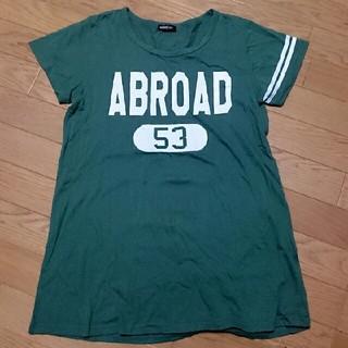 ビッグロゴのグリーンTシャツ(Tシャツ(半袖/袖なし))