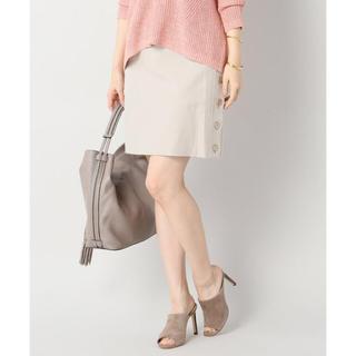 ノーブル(Noble)のC/Nヘリンボーン サイドボタンスカート(ミニスカート)