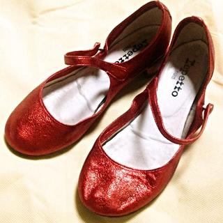 レペット(repetto)のrepettoシューズ メタリックレッド(ローファー/革靴)