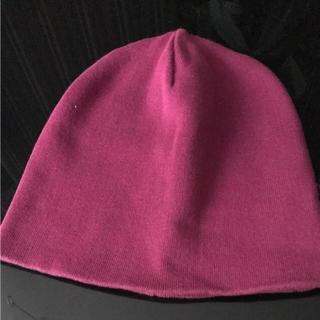 サーカス(circus)の【美品】CIRCUS ニット帽 帽子 F 紫(ニット帽/ビーニー)
