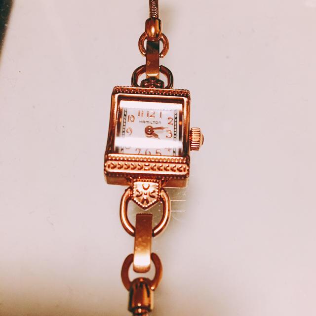 hot sale online af5f4 60323 ハミルトン ゴールド アンティーク レディース ブレス 高級 時計 腕時計   フリマアプリ ラクマ