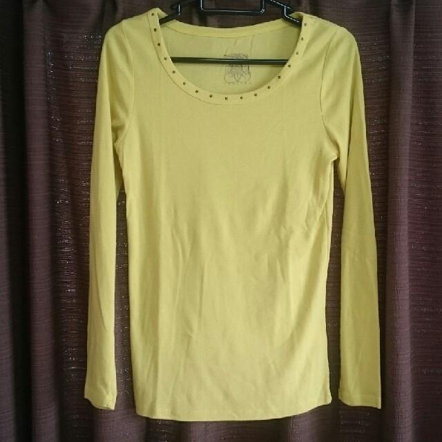 archives(アルシーヴ)の差し色に♪archives アルシーヴ ロングTシャツ イエロー レディースのトップス(Tシャツ(長袖/七分))の商品写真
